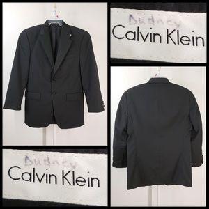 calvin klein men's black blazer suit size 39R